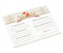 Lillian Rose Woodland Baby Shower Wishes & Advice Cards